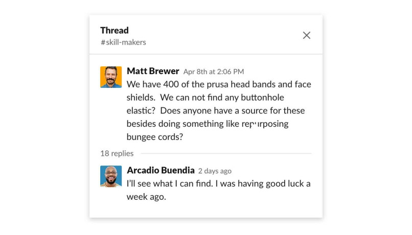 masks for docs slack channel