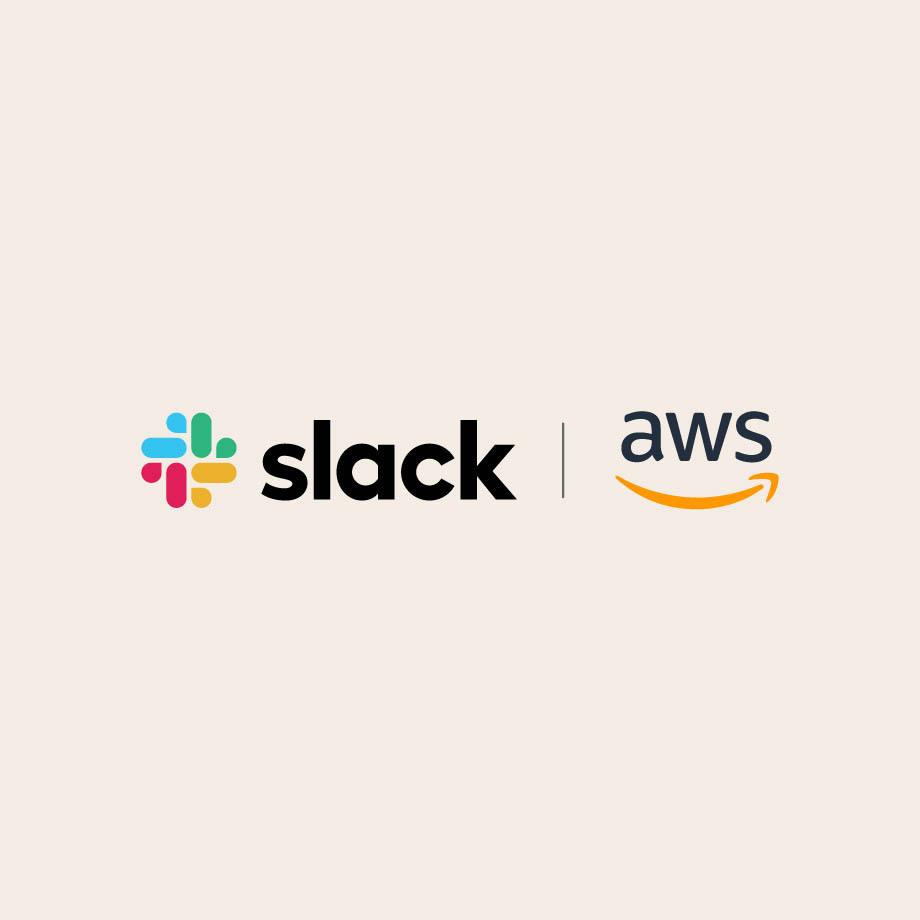 Slack and AWS logos