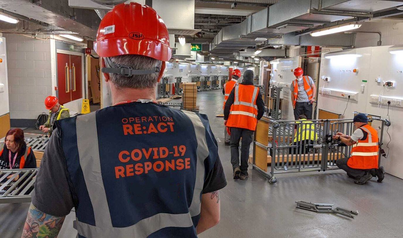 RE:ACT mobilizes veterans for Covid-19 relief efforts with Slack
