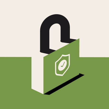 A lock symbolizing Slack's security and compliance offerings.