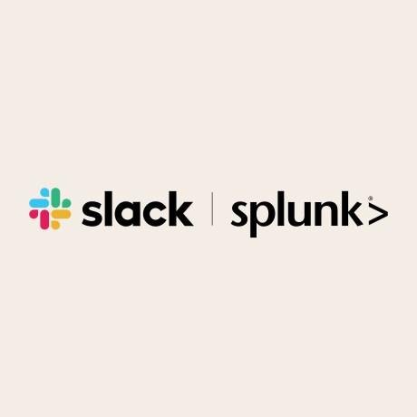 Slack and Splunk logos